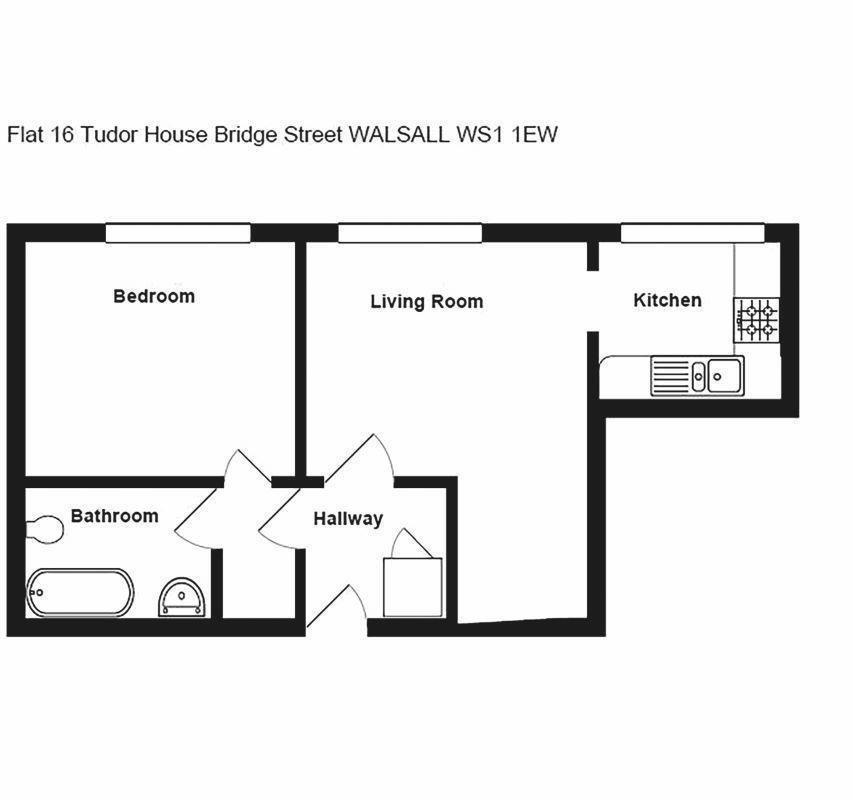 Flat 16 Tudor House, Bridge Street, Walsall, West Midlands, WS11EW