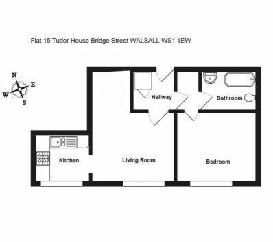 Flat 15 Tudor House, Bridge Street, Walsall, West Midlands, WS11EW
